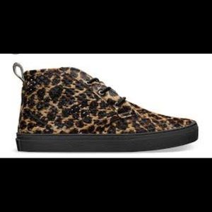 jibs life perforated leopard hi top sneakers